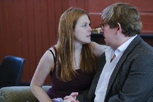 Naomi Petersen and Jamie Baughan in rehearsal