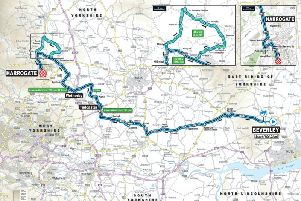 The route of next month's UCI Road World Championships showing Harrogate's starring role in the more than week-long event.