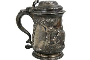 The antique tankard, which sold for 1,150. PIC:Newman Walker Associates