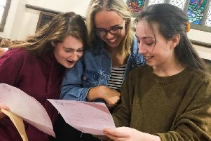 Students will be picking up their A level results today