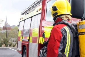 Two fire crews from Blackpool and South Shore were called to the house.