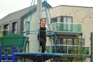 New play equipment at Queens Park