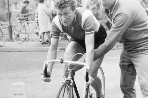 Pioneering cycling legend Beryl Burton who rode for Knaresborough Cycling Club and was twice road world champion in the 1960s.