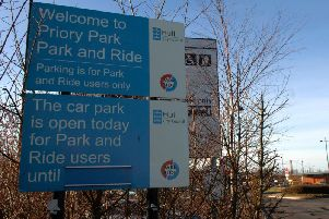 An example of a park and ride in action, this one is in Hull.
