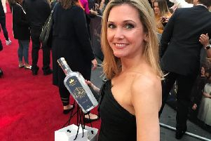 Harrogate Tipple's Sally Green on the Downton Abbey film red carpet.