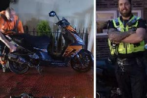 Moped seized by police in Calderdale (Picture West Yorkshire Police)