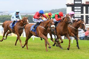 Racing action this season at Pontefract. Picture: Alan Wright
