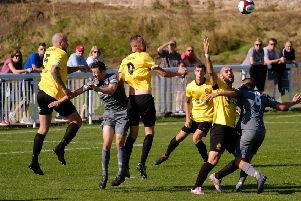 Action from Belper's drawn home tie with Witton on Saturday.