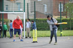 Youngsters taking part in the Lord's Taverners Wicketz cricket session at Lynnfield Primary School, Hartlepool.