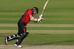 Tom Latham batting for Durham Jets against Worcestershire Rapids last season.  Picture by Tom Banks