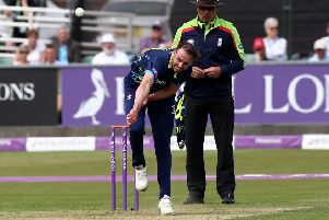 James Weighell in action for Durham Jets in the Royal London One-Day Cup