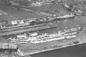 Hartlepool docks in 1947. Our writer believes joining the EEC in 1973 destroyed the British shipbuilding industry.