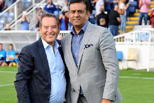 Jeff Stelling (left) and Raj Singh (right) - the two men are joint owners of Hartlepool United.
