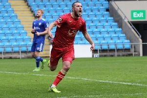 Liam Noble is Hartlepool United's top scorer this season with 12 goals. He is out with an ankle injury.