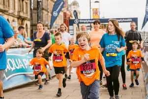 An expected 9,000 youngsters are due to join in the runs.