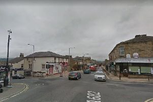 The junction of Halifax Road and Colne Road