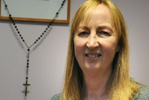Jane Barnes, head teacherb at  St Wulstan's and St Edmund's Catholic Primary School in Fleetwood.   PIC BY ROB LOCK'13-11-2018