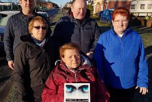 From left, Councillor Stephen Akers-Belcher, local residents Margaret Samuel and Joan Stephenson and Councillors Allan Barclay and Marjorie James with one of the new signs.