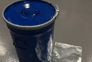 The stolen chemicals were in vacuum-sealed packs like these, house in blue drums.