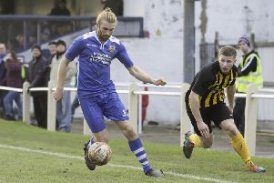 Eli Hey, who struck twice for Pontefract Collieries against Stocksbridge Park Steels to take his tally up to 21 league goals for the season.