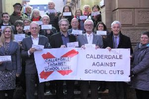 Labour and Liberal Democrat councillors joined CASC campaigners at Halifax Town Hall