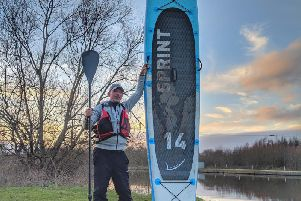 Paddleboarder becomes first to journey coast to coast