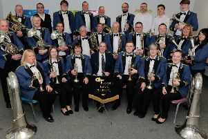 GT Group Band Peterlee is marking 25 years since it was first sponsored by the manufacturing company. Photo by Keith Taylor.