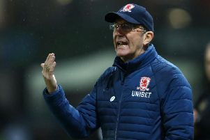 """I don't think this club would be still going in the way it is if not for Steve."" Tony Pulis on Middlesbrough chairman Steve Gibson."