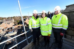 Northumberland Homes Ltd directors Gary Herron (left) and Michael Black with (centre) Rachel Warriner, of RMT Accountants, who has been working with the Northumberland Homes team on the project.
