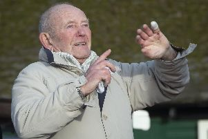 Tony Foulds, 82, watches from Endcliffe Park in Sheffield, as warplanes from Britain and the United States stage a flypast tribute to ten US airmen 75 years after he witnessed the crash that killed them. PRESS ASSOCIATION Photo. Picture date: Friday February 22, 2019. Mr Foulds, has spent much of his life treating a memorial to the airmen whose plane crashed in front of him as he played in Endcliffe Park in Sheffield on February 22 1944. See PA story MEMORIAL Flypast. Photo credit should read: Danny Lawson/PA Wire