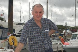 David Croall, pictured at Fleetwood Marina, rescued two men in a rubber dinghy.
