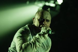 Keith Flint of The Prodigy, pictured at their last appearance in Newcastle, in November 2015.
