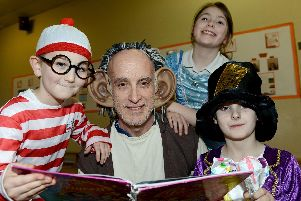 Lynnfield Primary School staff member Brian Umpleby with pupils (left to right) Alex Burn-MCrossen, Jade Chawner and Riley Stead.