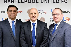 Raj Singh and Mark Maguire with Richard Money (centre).