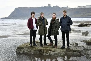 The Feens played their first Leeds gig on Saturday at The Lending Room, on Woodhouse Lane.'Left to right: Freddie Schmuck, Sam Dowling, Adam Lodge and Perrie Bunton.
