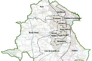 The proposed new 12 ward boundaries for Hartlepool.