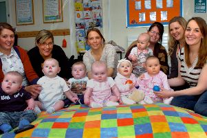 These bonny babies were having fun at the Rift House Children's Centre in 2013.
