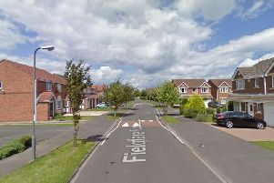 Two officers were in Hartlepool conducting routine patrols in a police car when they came across a man behaving suspiciously on a driveway on Fieldfare Road. Picture: Google.