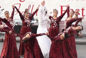 Armenian dancers perform during at Billingham Folk Festival