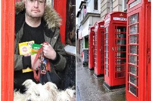 Craig Brown at the telephone box in Abingdon Street where he wanted to open a retail business for pet owners
