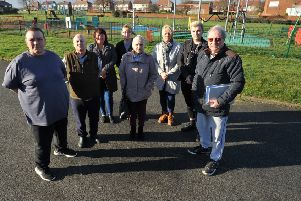 Keith Roberts, left, chairman of United Residents Action Group, and members.