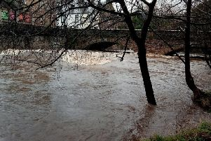 The River Calder at Padiham today