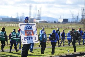 The March to Leave walkers left Hartlepool today on stage two of their route to London.
