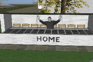 The Brian Miller memorial tribute at  the Turf Moor Memorial Garden has been unveiled