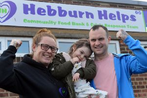 Hebburn Helps' Angie Comerford is to take part in The Three Peaks Challenge with Lyla O'Donovan, 6 and father Paul O'Donovan