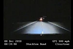 Police car footage of the pursuit shows the speeds the pursuit was reaching.