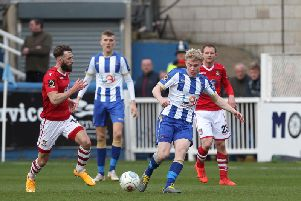 Adam Bale got on for a late cameo for Pools against Wrexham.