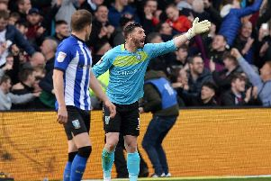 A furious Owls keeper Keiren Westwood after Aston Villa's two late goals