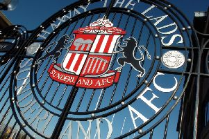 Gates outside The Stadium of Light.