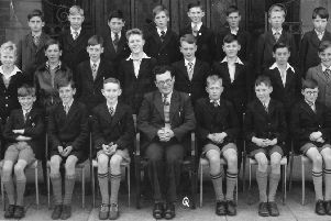Colin Metcalfe , bottom row far right, in his days at West Hartlepool Technical Day School.